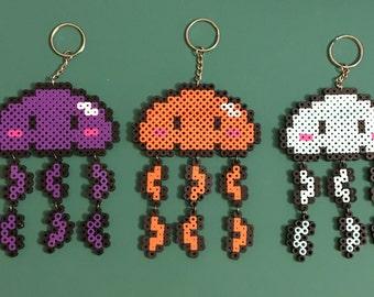 Jellyfish Perler Keychain