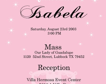 Quinceanera Enchanted Digital invitation - Spanish or English