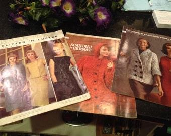 Lot of Bernat Knitting Books 1958-63