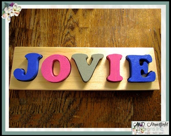 Custom Solid Wood Name Puzzle - Personalized Name Puzzle made in Canada