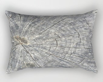 Wood Throw Pillow, rustic pillow, lumbar pillow, tree throw pillow, natural pillow, nature pillow, natural wood pillow, woodland pillow