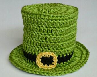 St. Patricks Leprechaun Handmade Crochet Beanie Hat Baby Girl Boy Photo Prop Custom Made
