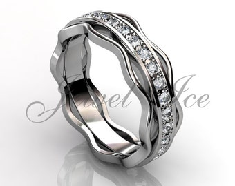 Eternity Wedding Band - 14k White Gold Diamond Eternity Wedding Band LB-2036-1