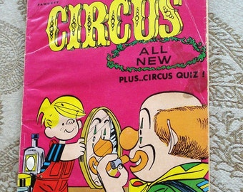 Dennis the Menace at the Circus 1967 Bonus Comic Book, Very GoodCondition