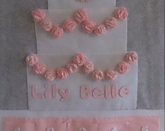 Reusable personalised birthday countdown advent calender