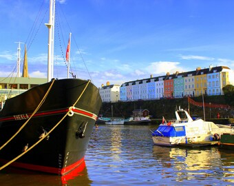Thekla, Bristol Harbourside, Redcliffe Parade, Coloured Houses, Bristol, England, Fine Art Photograph, Photographer, Alison Zak-Collins