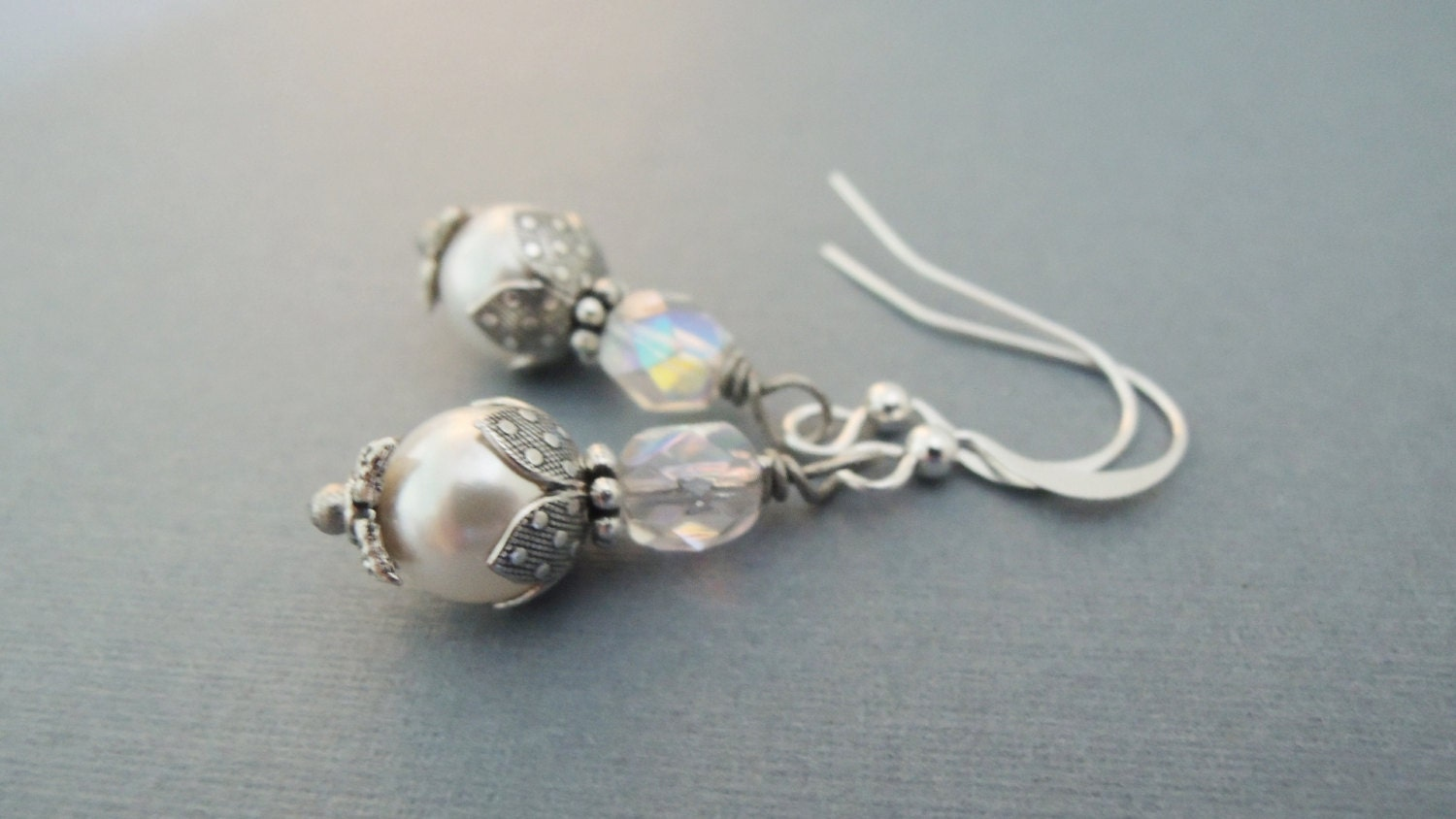small pearl and earrings dainty pearl by