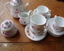 antique dolls' tea set