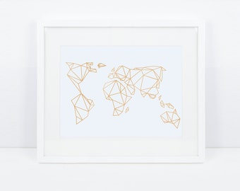 Artprint / geometric Earth / gold