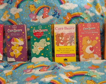 Lot of 6 Vintage Care Bears VHS Tapes