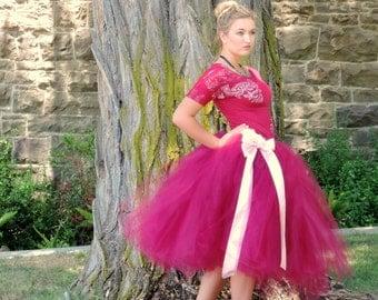 Sale Item Adult tutu marsala and dusty rose tutu cottage chic photo prop engagement photo skirt wedding tutu wedding dress