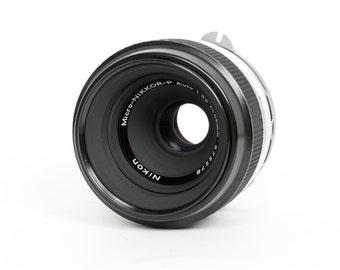 Nikon 55mm f/3.5 Non-AI Macro Lens with M2 Extension Tube