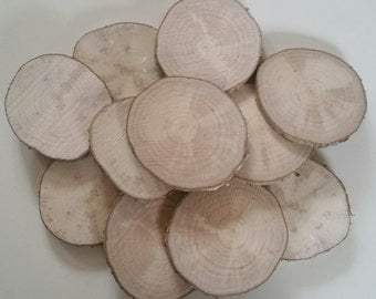 Hazel wood slices, 7cm, Tree slices, wood slices, branch slices, wooden slices, craft, crafting, wedding, outdoor crafts