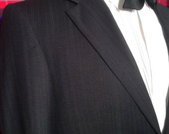 Boston dual vent notch lapel wool navy/inky black blazer wool nice slim fit 92 R 36 R