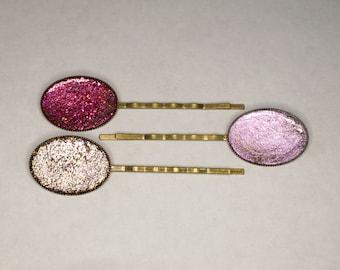 Sparkly Brass Hair Pins