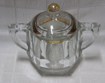 Vintage Glass Sugar Bowl