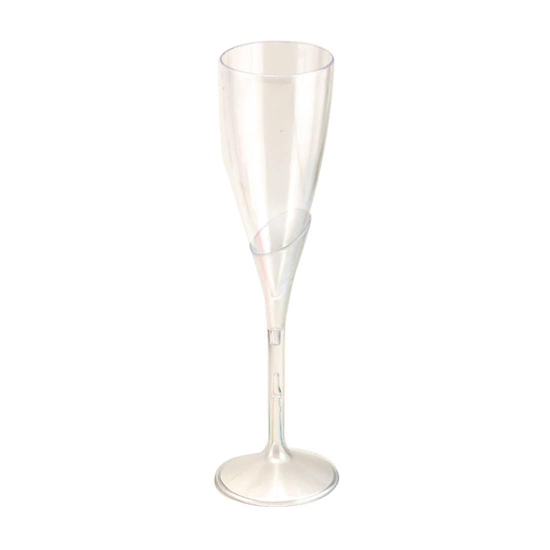 9 clear plastic champagne wine flutes glasses party. Black Bedroom Furniture Sets. Home Design Ideas