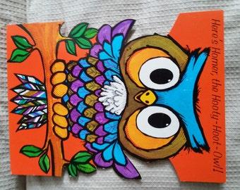 1970's Large Halloween Card - Homer The Hooty Hoot Owl - Unused.
