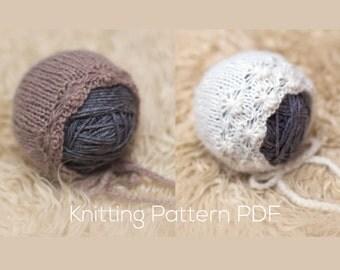 KNITTING PATTERN | Dandelion Bonnet | Newborn Photography Prop