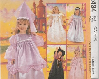 McCall's 2434 Size 1/2-1-2 or 2-3-4 Toddlers' Pretty Girl Costumes Sewing Pattern 1999 Uncut