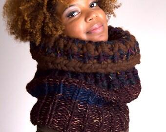 Knit Infinity Scarf, Knit Scarf, Chunky Knit Scarf, Knit Chunky Scarf, Knit Cowl Chunky, Knit Cowl, Knit Chunky Cowl - Winter Nights #2