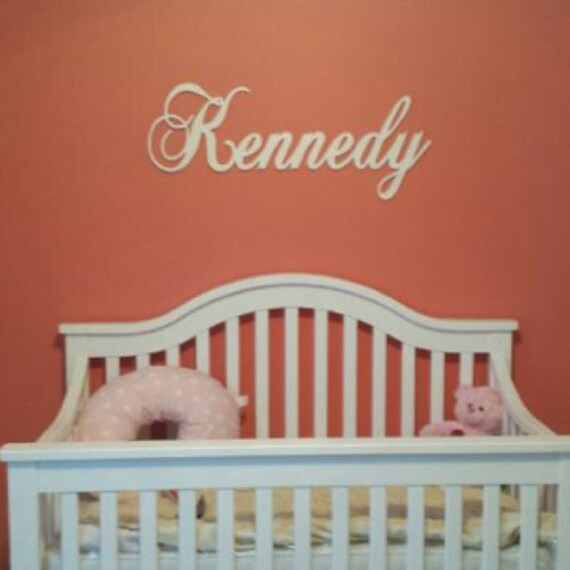 Nursery Decor Wooden Wall Letters : Wall decor wooden letters for nursery name sign