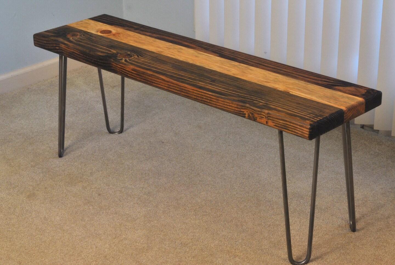 Hairpin Leg Wood Bench