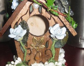 Mini Wooden Bird House