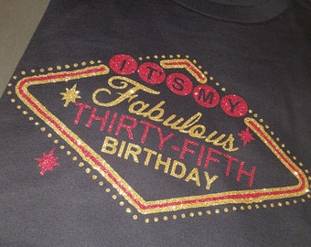 Vegas birthday shirt