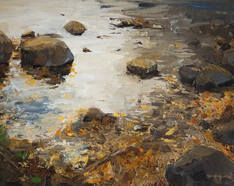 Art card print- October On The Logan River-   by Lauriann Wakefield  of Bear Lake