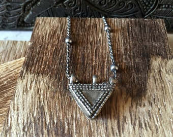 Ethnic Necklace Silver,Tribal Necklace,Tribal Jewelry,Silver Telsum Necklace,Boho necklace,Tribal Silver Necklace,African Silver Necklace