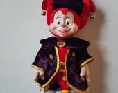 Pardoes Efteling, Jester doll, clown toy, Holland Efteling Fantasy amusement park doll, magic jester doll, plush stuffed jester doll toy