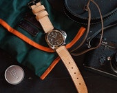 Natural Vegetable Tanned Leather Panerai Watch Strap 24mm (Free Shipping)
