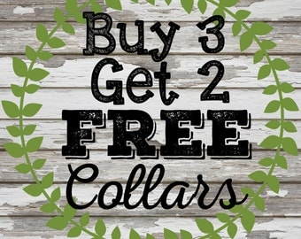 PJP Limited Time Offer! Buy 3, Get 2 Collar Promo