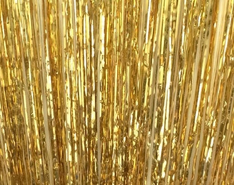 Gold Metallic Foil Curtain Backdrop - 3 feet wide by 8 feet tall - Paper Craft Party Supplies