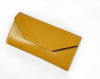 Yellow  Women's Leather wallet 03 ,Handmade Wallet ,Iphone wallet ,Leather Iphone 5 wallet