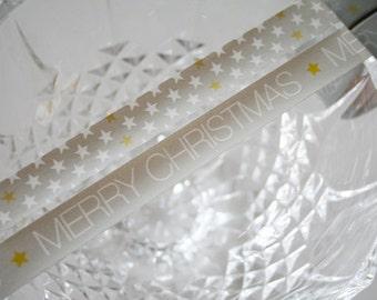 Grey Christmas Star Washi Tape Set of 2