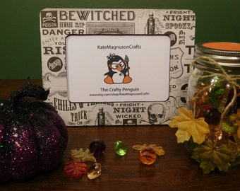 Handmade Decoupage Halloween/Bewitched 4 by 6 Inch Picture Frame