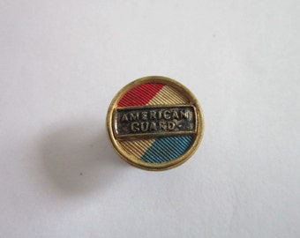 Antique Patriotic American Guard Stud Cuff Button
