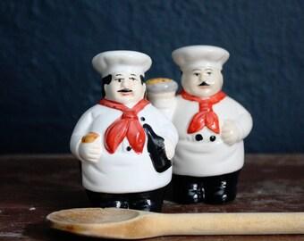Italian Chefs Salt & Pepper Shakers (Pair)