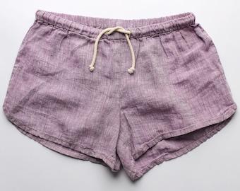 Linen Shorts > Violet Solid