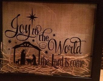 Christmas Shadow Box Nativity