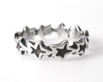 Sterling Silver Star Ring Size 7