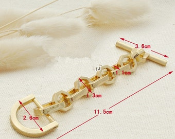 11.5cm  Gold Extention Purse Chain with D-Ring 103058-070