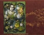 Gilded postcard print, Frog Prince fairy tale