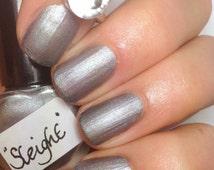 Sleight by Polish Me, Royalty! 5-toxin free, cruelty free, handmade grey-silver nail polish