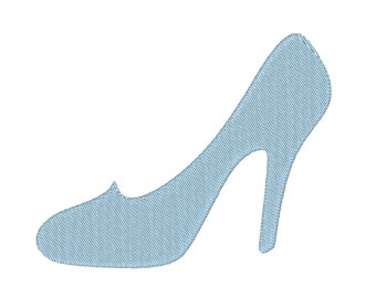 High Heel Shoe Pump Cinderella Glass Slipper Stiletto Silhouette Embroidery Machine Design 13 SIZES *Includes Mini Sizes*