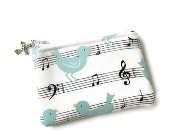 Ladies Girls Rosary Pouch, Coin Purse, Musical, White, Blue, Black, Small Bag, Catholic Gift, Religious Coin Purse