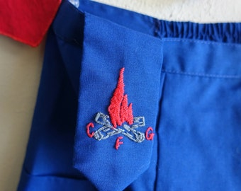Vintage Camp Fire Girls Uniform Campfire Embroidery Girl Scouts