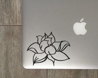 Lotus Flower Decal - Lotus Flower - Lotus Decal - Vinyl Decal - Laptop Decal - Laptop Sticker - Macbook Decal - Macbook Sticker - Car Decal